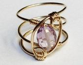 Amethyst Ring  Amethyst Jewelry  February Birthstone 14K Gold Filled Ring  Amethyst Gold Ring  Amethyst Gemstone
