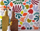 Removable Wallpaper // Matisse is my muse // Adheres to walls and shelves and is removable