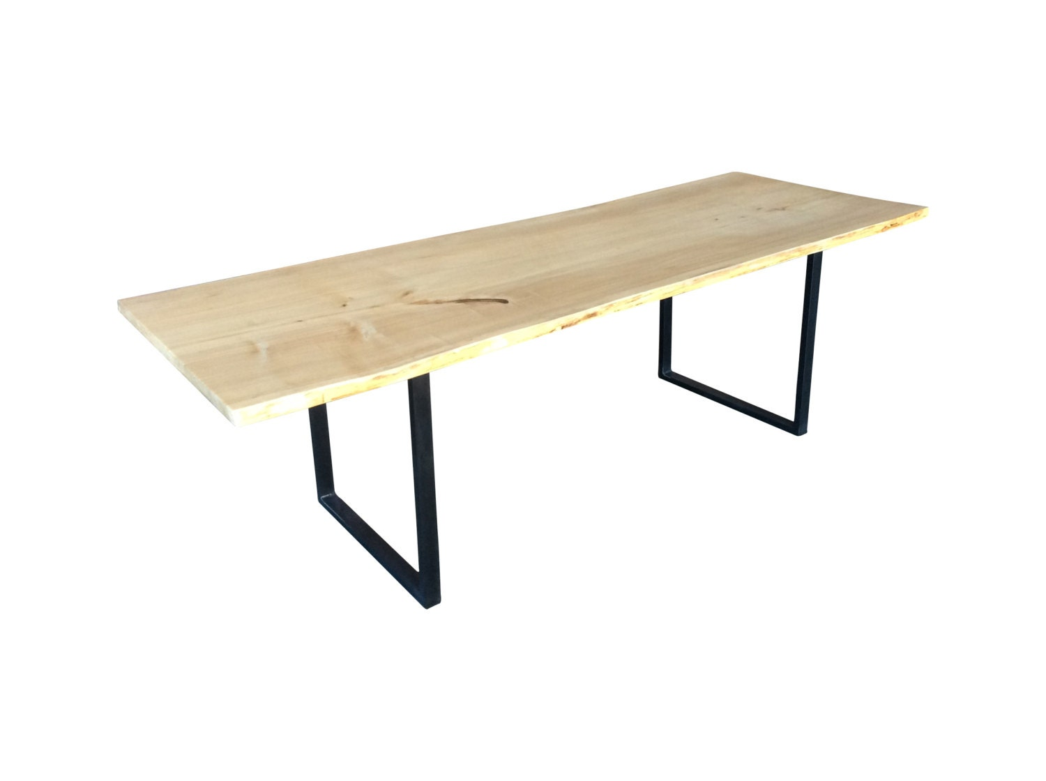 Natural Edge Timber Dining Table: Natural Edge Slab Dining Table Cottonwood
