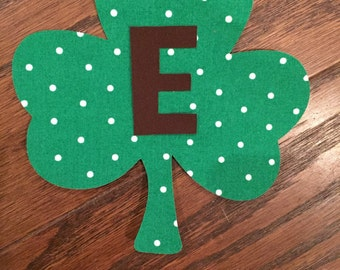 Boy Shamrock Iron On Applique, You Choose Fabric