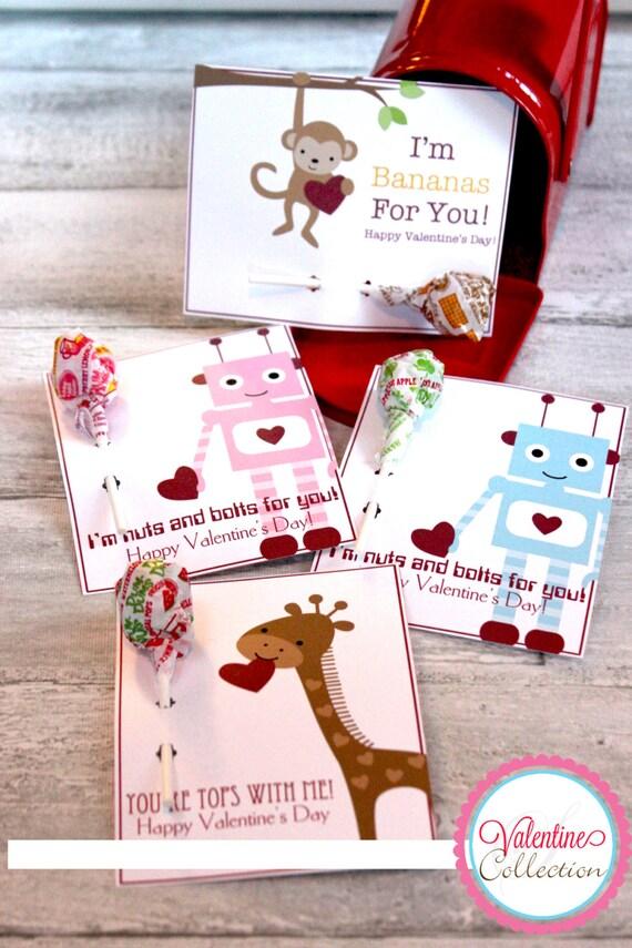 DIY Printable Valentine Lollipop Holders INSTANT DOWNLOAD