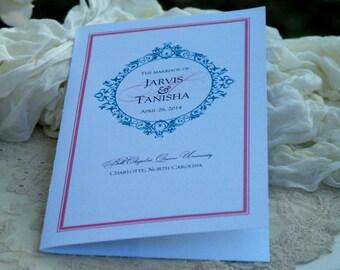 Large Folded Wedding Programs