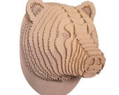 Stewart  - Large Cardboard Bear Head - Brown