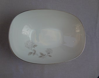 Vintage Noritake Rosay Oval Vegetable Bowl / Japan / 1960's