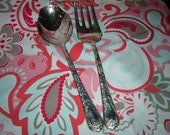 Wm. Rogers & Son silverplated Meat fork and serving casserole spoon