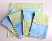 Cloth Minky Wipes - 5 pack - garden