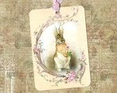 Rabbit Tags - Vintage Style Bunny Tags - by Luvcrystals