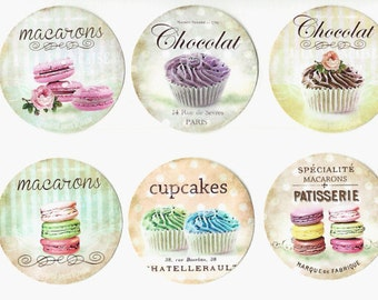 French Bakery - Macarons Stickers - Patisserie