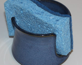 Blue Ceramic Sponge Holder | Made to Order