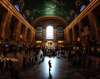 """New York City Photography - """"Time Stand Still"""" Grand Central Terminal  - 11x14 Print, Matted to 16x20 - fits in standard frame"""