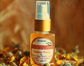 Organic Facial Serum - Natural Vegan Moisturizer for all skin types - Golden Purity.