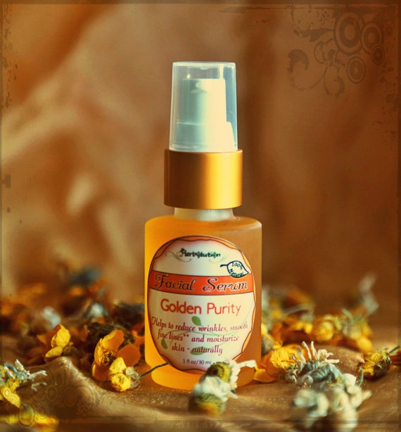 Organic Facial Serum - Natural Vegan Moisturizer for all skin types - Golden Purity.
