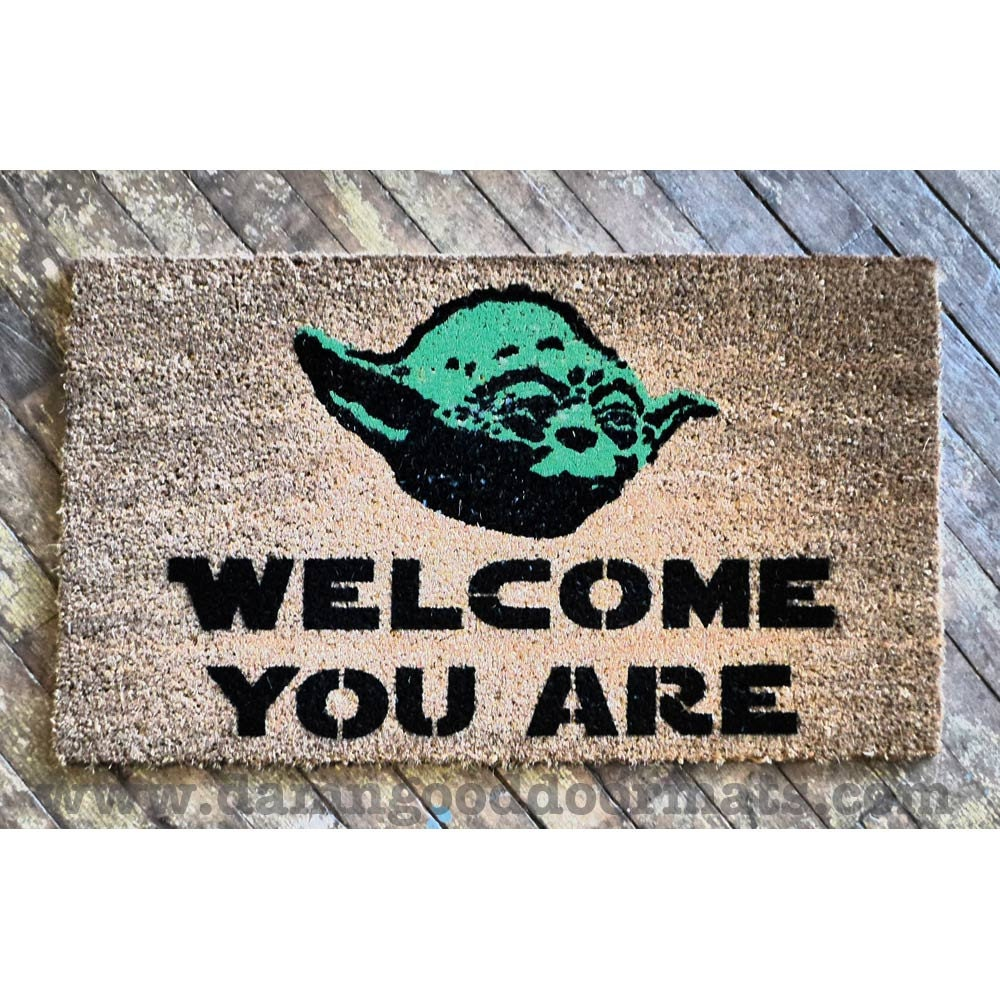 Sale welcome you are mat novelty geek stuff by damngooddoormats - Geeky welcome mats ...