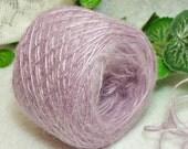 Spring Crocus Yarn, Brushed Acrylic, Lavender, Lilac, Lace Weight Yarn, Bin 27