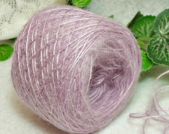 Spring Crocus Yarn, Brushed Acrylic, Lavender, Lilac, Lace Weight Yarn, Bin 27
