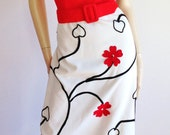Vtg 60s 70s BoHo Chic Stunning CABOT RESORT Floral  Mad Men Maxi Dress