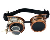 Steampunk Goggles Airship Captain Apocalyptic Mad Scientist Victorian Limited CC D