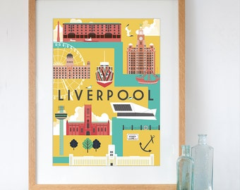 Art Print of Liverpool City