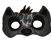 Children's Safari Animal HYENA Felt Mask