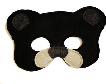 Children's BLACK BEAR Felt Mask