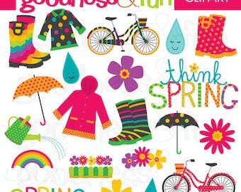 Buy 2, Get 1 FREE - Springtime Spring Clipart - Digital Spring Clipart - Instant Download