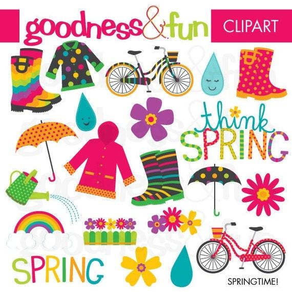Buy 2 Get 1 FREE Springtime Spring Clipart Digital Spring