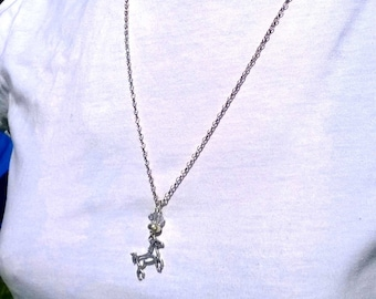 Sterling silver Horse necklace-'Run Free'