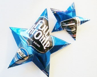 Full Throttle Energy Blue Agave Christmas Ornaments Can Upcycled Drink