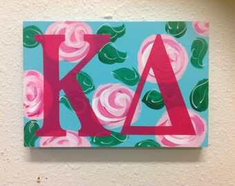 Kappa delta lilly inspired sign Greek letters sorority big little