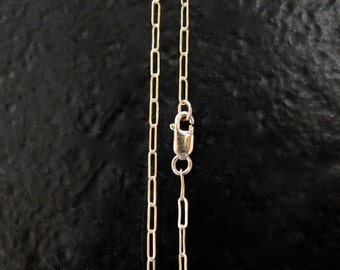 14 Inch Gold Filled 2x5mm Drawn Cable Chain With Lobster Clasp - Custom Lengths Available