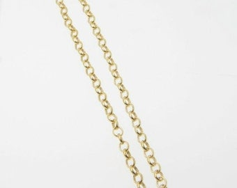 15 Inch Gold Filled Belcher Chain 3.3x2.8mm Necklace With Lobster Clasp - Custom Lengths Available
