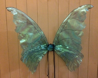 Adult Life Like Unique Blue Iridescent Fairy Wings