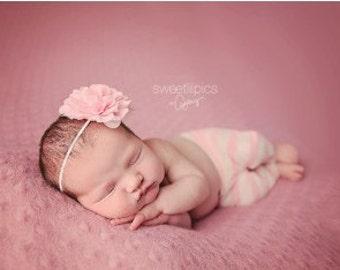 Light Pink Flower Headband, Emma Petal, Newborn Headband, Baby Headband, Infant Headband, Photo Prop, Flower Girls, Weddings, School Bows