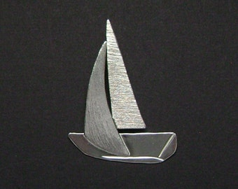 Sterling Silver Sailboat Pendant