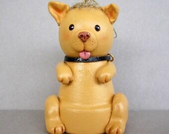 Puppy Flowerpot Bell Ornament