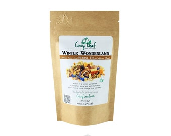 Winter Wonderland Organic Artisan Loose Leaf Tea by Cozy Leaf