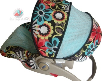 Car Seat Cover Flower Shower Clementine Infant --Moves to Toddler