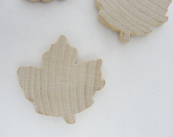 Medium Wooden maple leaf cutout, wooden leaf, leaf cutout, maple leaf, set of 6