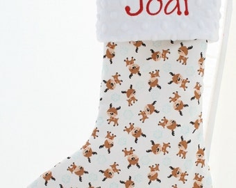 Personalized Christmas Stocking - Reindeer