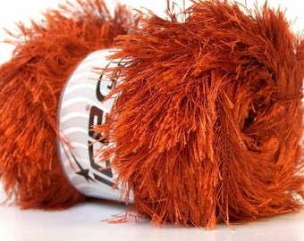 LG 100 gram Copper Eyelash Yarn Ice Fun Fur 164 Yards 22712