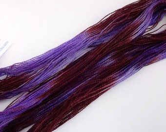 Plum Hand Dyed Tencel Thread Size 8