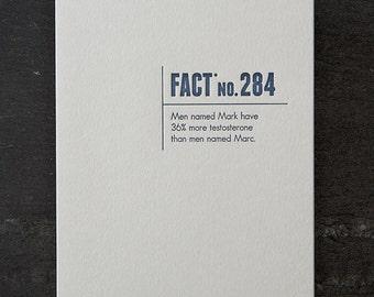 mark/marc. letterpress card. #330