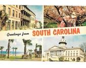 Vintage Postcard from South Carolina 1968