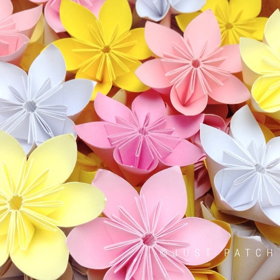 Cherry Blossom Origami Folding Flowers 20 pcs - photo#39