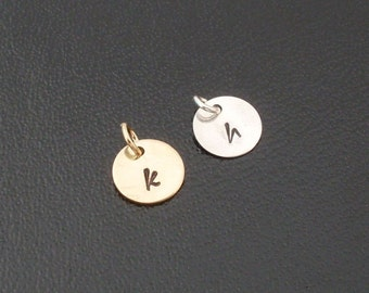 Add an Initial Charm to Any Bangle You Order from my Shop  - Sterling Silver or Gold Filled