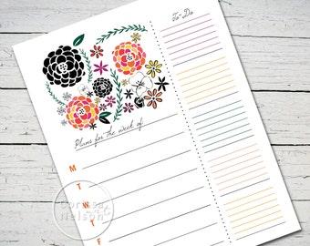 Garden Weekly Planner - Instant Printable