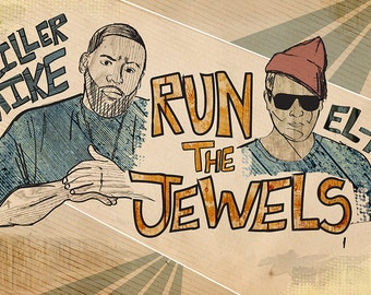 Run the Jewels Poster - Limited Edition, Signed and Numbered