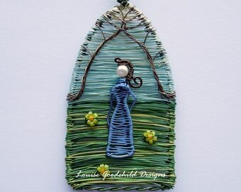 The Countess unique wire pendant - unique wire pendant, lady, garden, wirework pendant, ooak