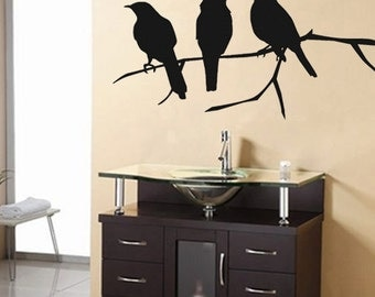 Wall Decal Crows Bird Vinyl Wall Art Decal SALE 25 BUCKAROOS