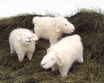 woolly sheep toy, waldorf toy, waldorf sheep, gift for knitters, knitting item